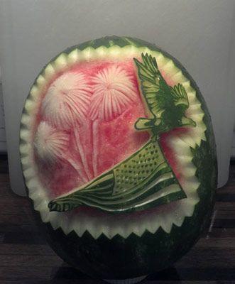 Pat o brien s patriotic watermelon carvings th of july ideas