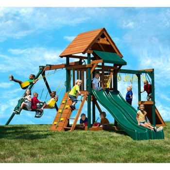 Costco: Yardline Play Systems Twin Turbo Tower II Playset - Installation Included or Do It Yourself
