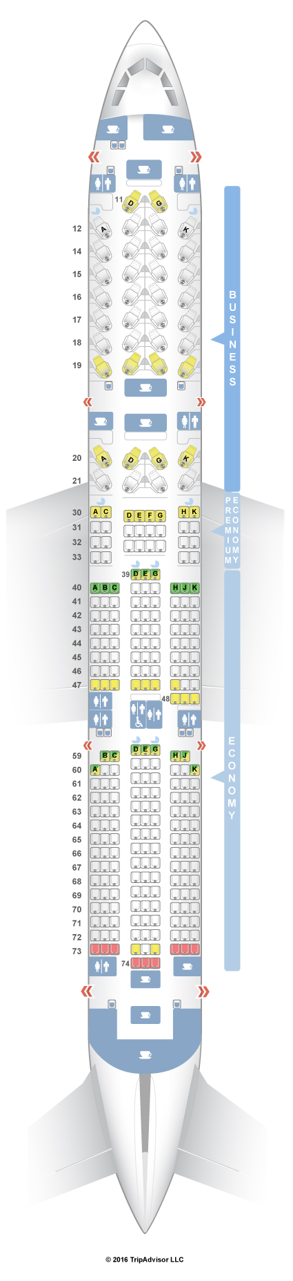 seatguru seat map cathay pacific airbus a350 900 35g seating