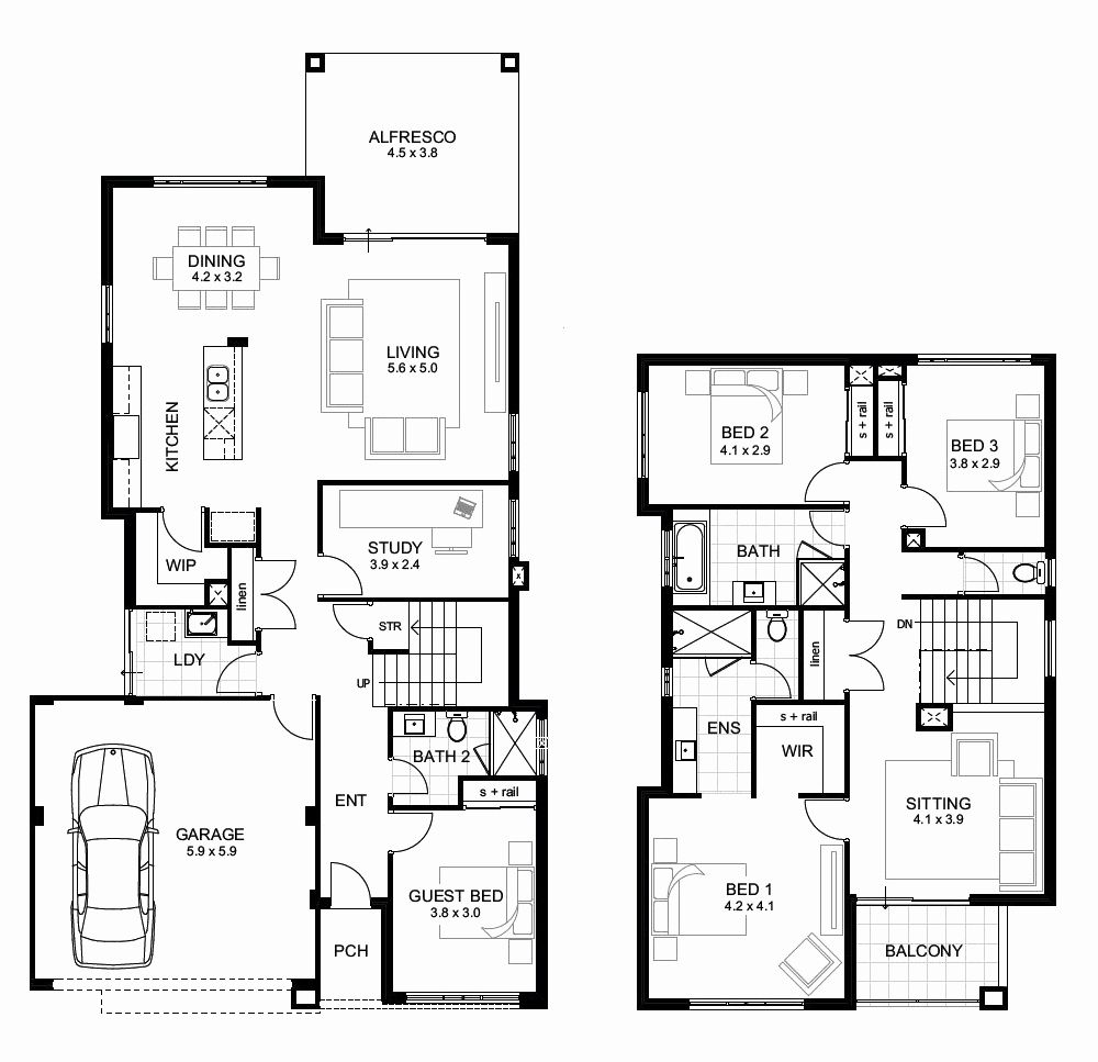 Icymi House Layout Design App Two Storey House Plans Four