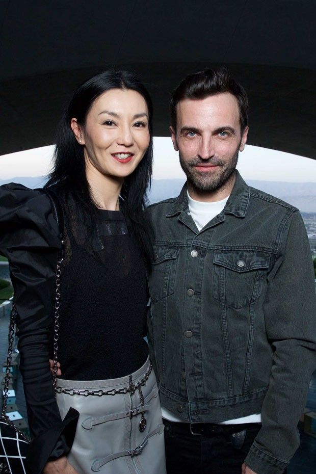 Hong Kong actress Maggie Cheung and creative director of Louis Vuitton Nicolas Ghesquière (Foto: LOUIS VUITTON)