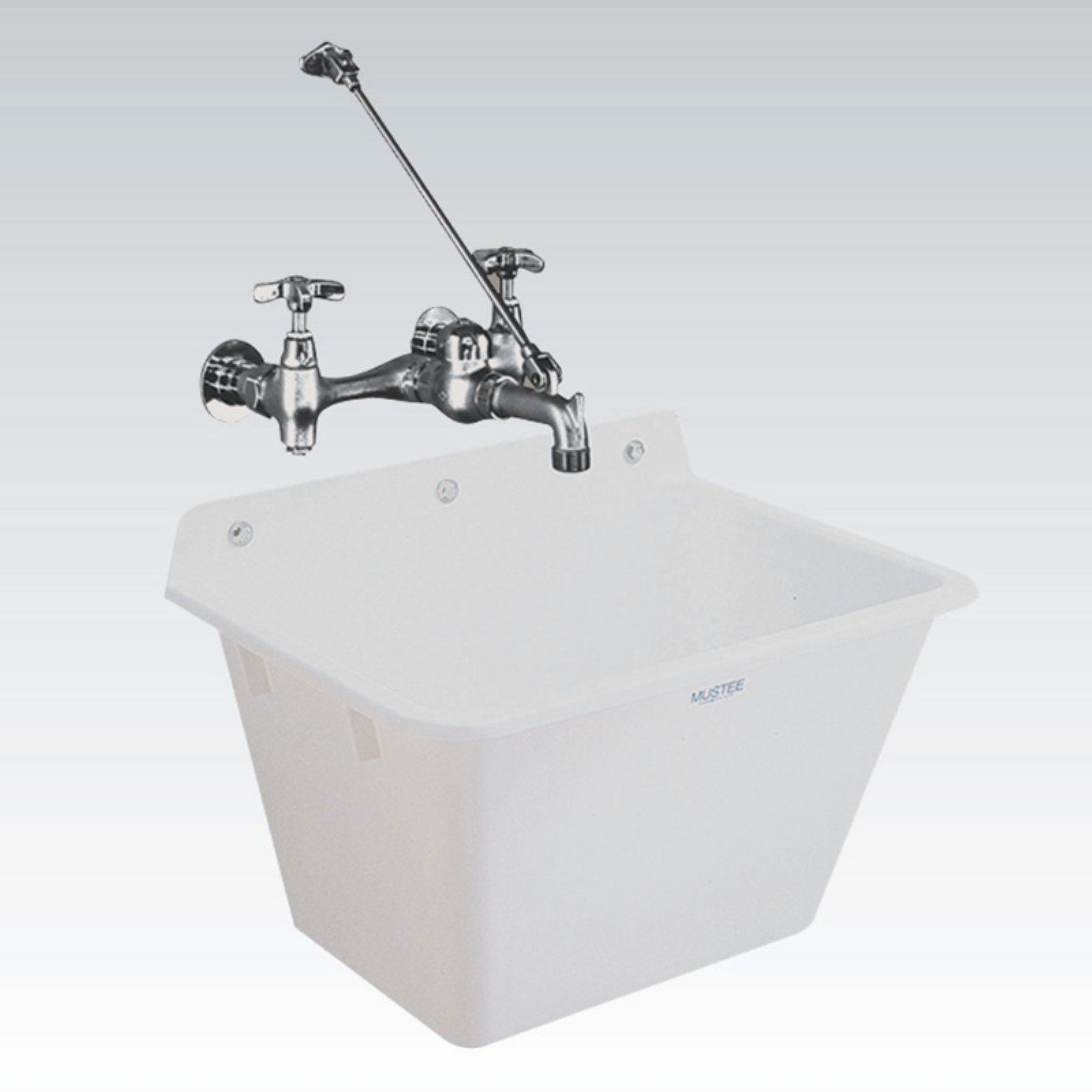 Mustee Utilatub 16 Single Basin Wall Mount Utility Sink Utility