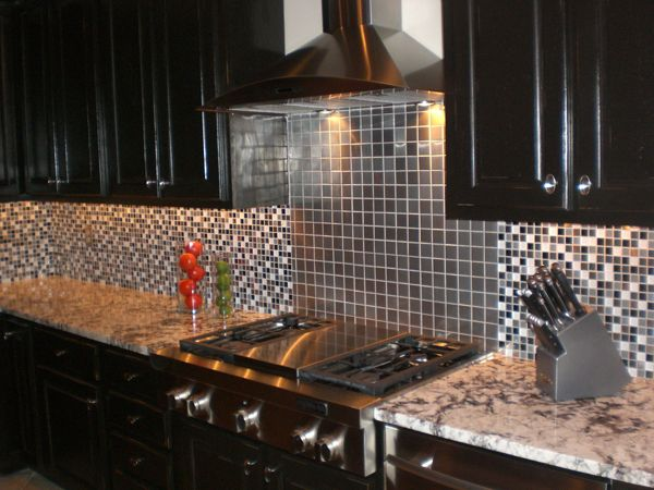 Stainless steel mosaic tile 2x2 subway tiles stainless for Stainless steel tile backsplash installation