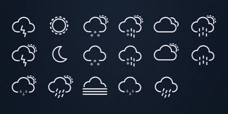 Weather icons v.1.0 by Konrad Kolasa