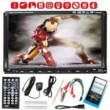 "Free Camera+GPS 7"" Double 2 Din Car Stereo Radio DVD CD Player Bluetooth iPod"