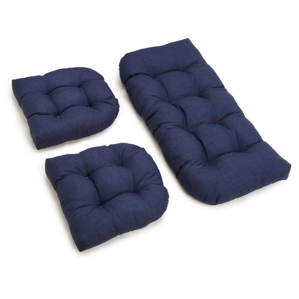 3 Piece Indoor/Outdoor Bench and Dining Chair Cushion Set in 2018