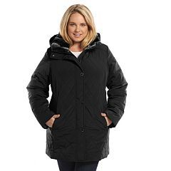 10a9f6f01fc Plus Size Croft   Barrow® Hooded Quilted Stadium Jacket