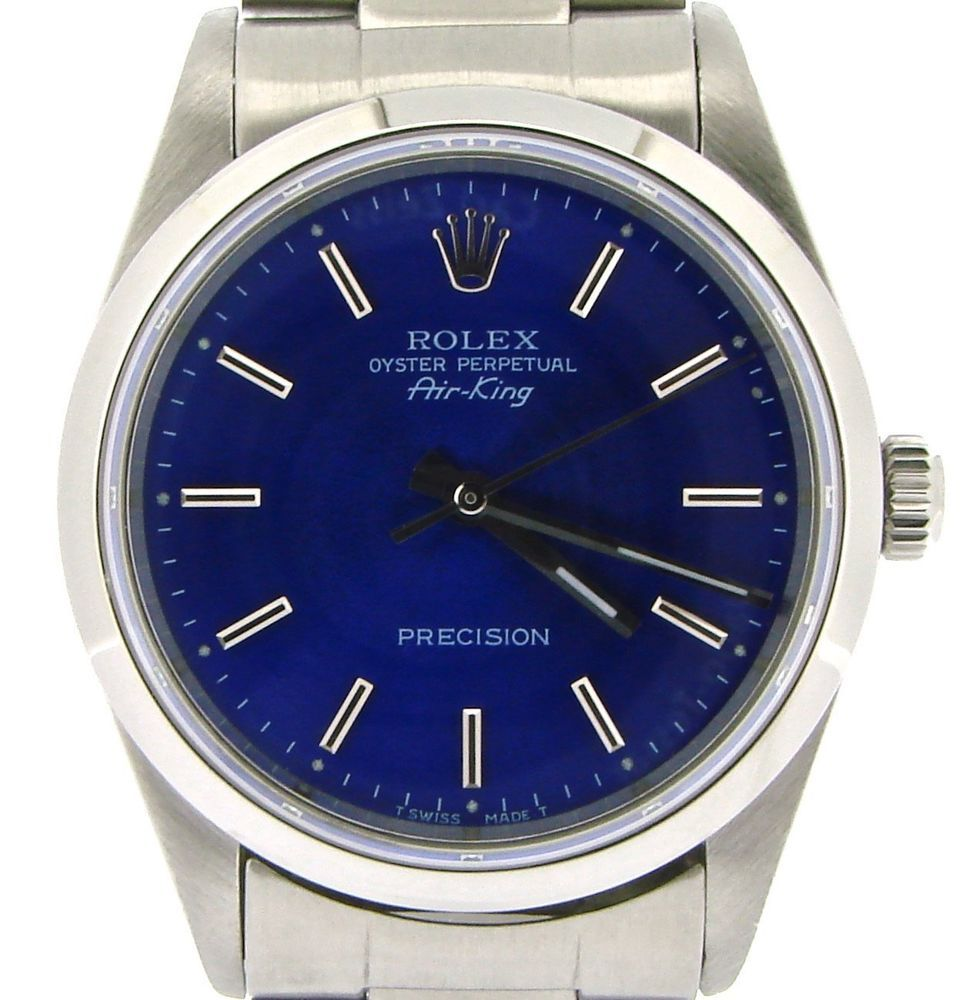 Rolex Air King Mens Stainless Steel Watch Oyster w