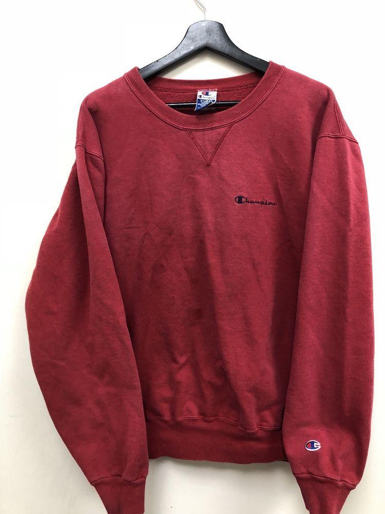 49c803ec Vintage Champion Reverse Weave Crewneck Sweatshirt Red Free Shipping | eBay