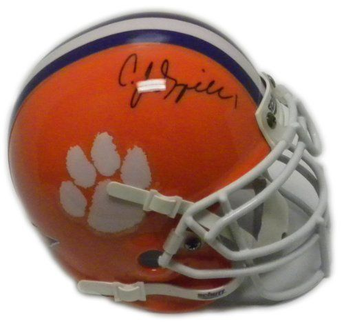 CJ Spiller Autographed/Hand Signed Clemson Tigers Authentic Schutt Mini Helmet- PSA/DNA Certified by Schutt. $59.99. On November 28 2009. C.J. Spiller set the FBS record for kickoff return touchdowns with seven during his career. He also earned his spot in the record books in another way on that kickoff return by being only one of five players to ever gain 7000 all-purpose yards. On December 2 2009 Spiller was voted the 2009 Atlantic Coast Conference Player of the Year....