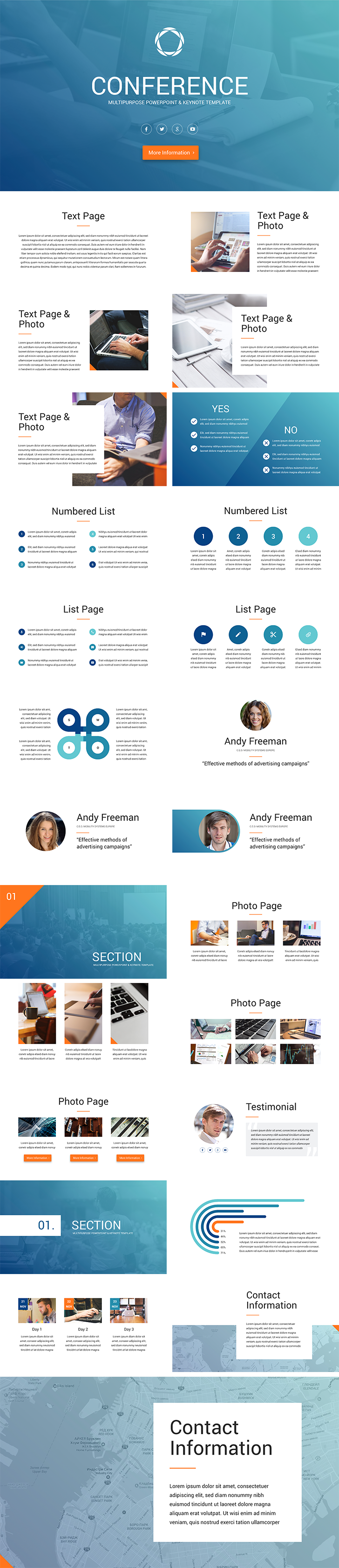Conference Keynote Template | Presentations | Pinterest ...
