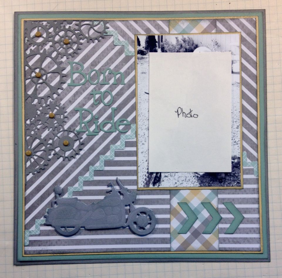 How to scrapbook 8x8 layouts - One Photo 8x8 Scrapbook Layout