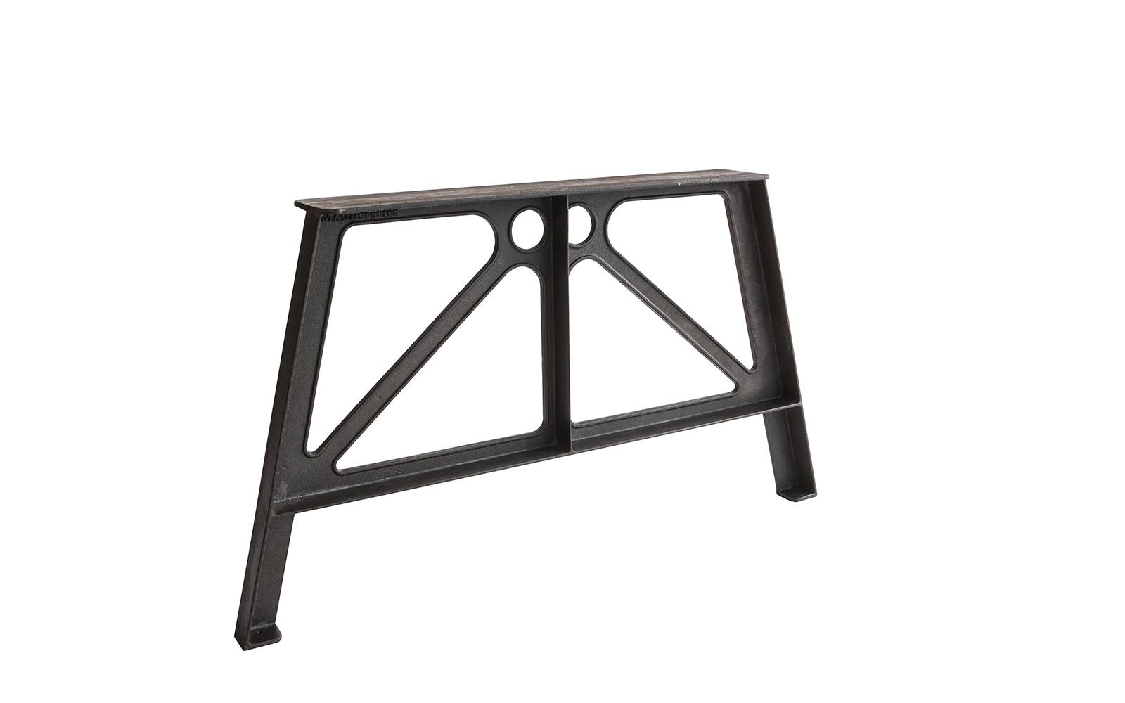 Edge dining table trestle legs iron and rustic country kitchens laxseries cast iron trestle leg watchthetrailerfo