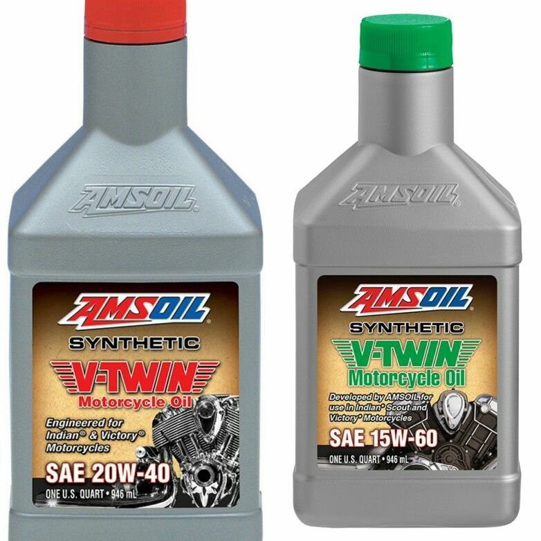 Amsoil 15w 60 And 20w 40 Synthetic V Twin Motorcycle Oil Provides