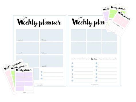 weekly planner | Pinterest | Das neue, Geplant und Vorlagen