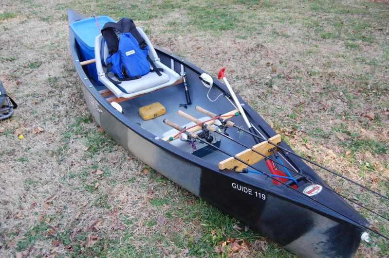 My rendition of the tricked out old town guide 119 for Fishing canoe setup