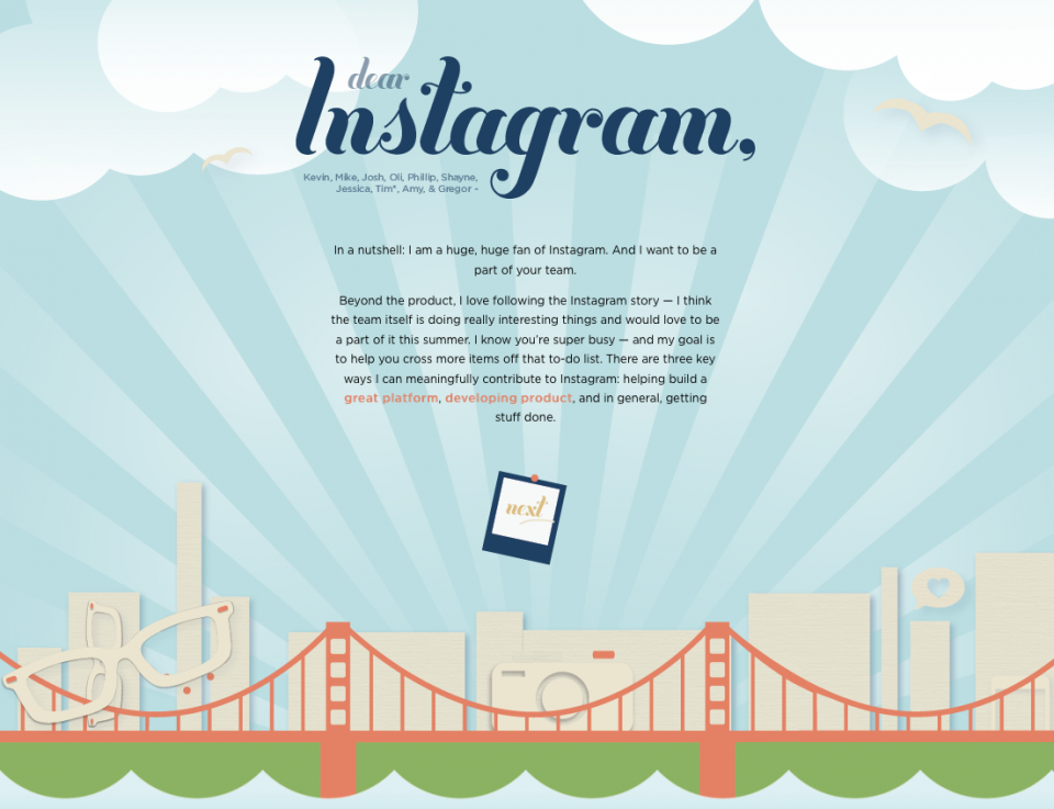 Upenn Cover Letter.Dear Instagram Totally Awesome And Creative Digital Resume