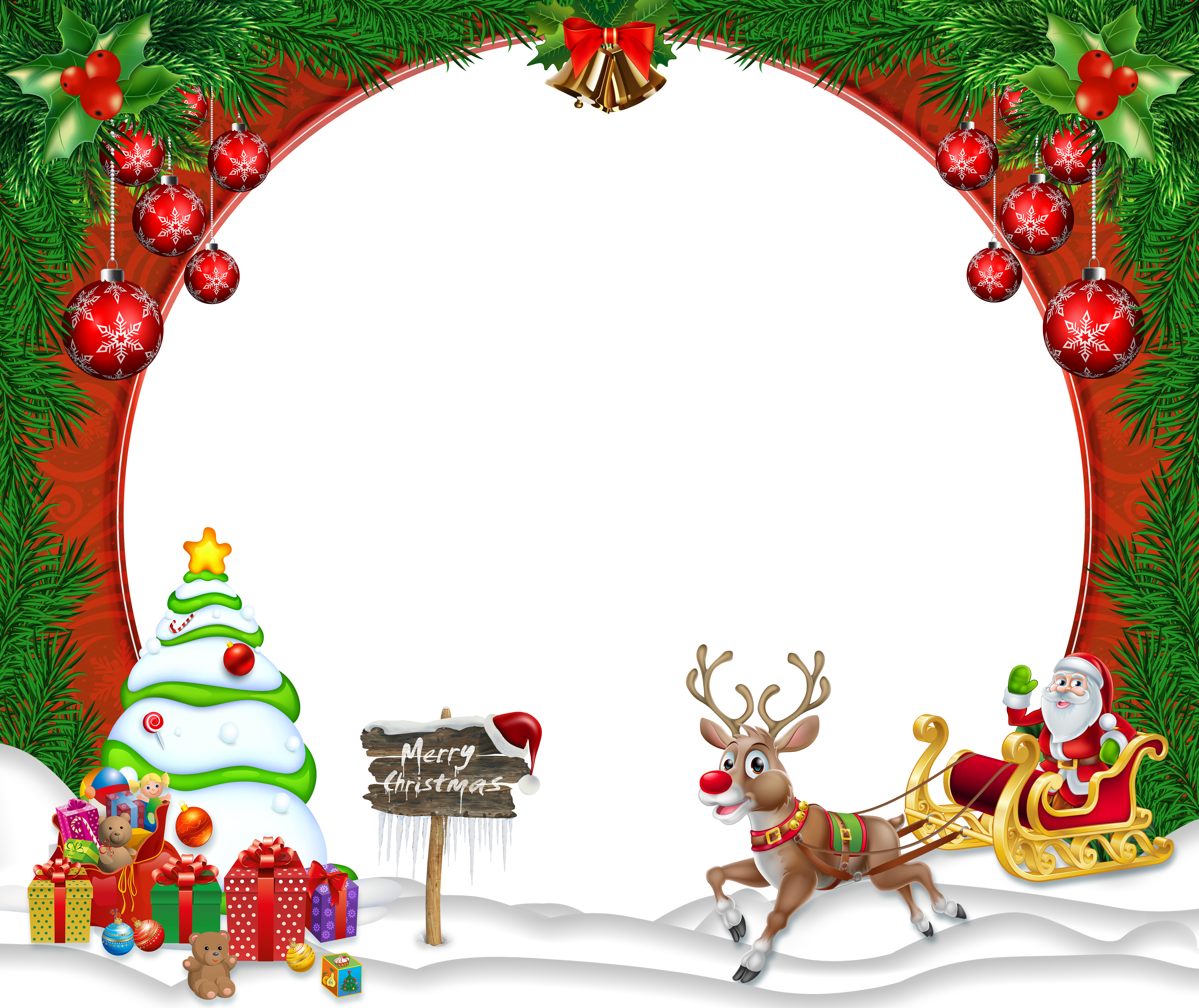 Merry Christmas Transparent Png Frame Gallery Yopriceville High Quality Images And Tra Christmas Frames Free Christmas Photo Frame Christmas Card Pictures