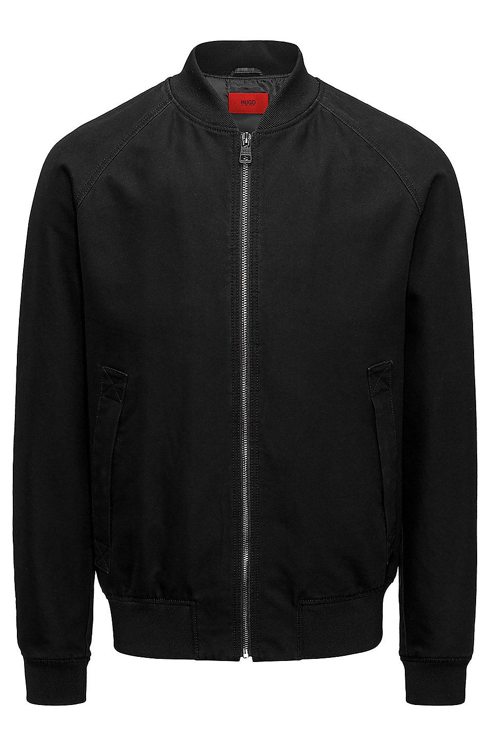 Hugo Boss Washed Cotton Canvas Bomber Jacket With Bold Patched Artwork Black Bomber Jackets From Hugo For Men In The Official Hugo Boss Online Store Free Ship [ 1456 x 960 Pixel ]