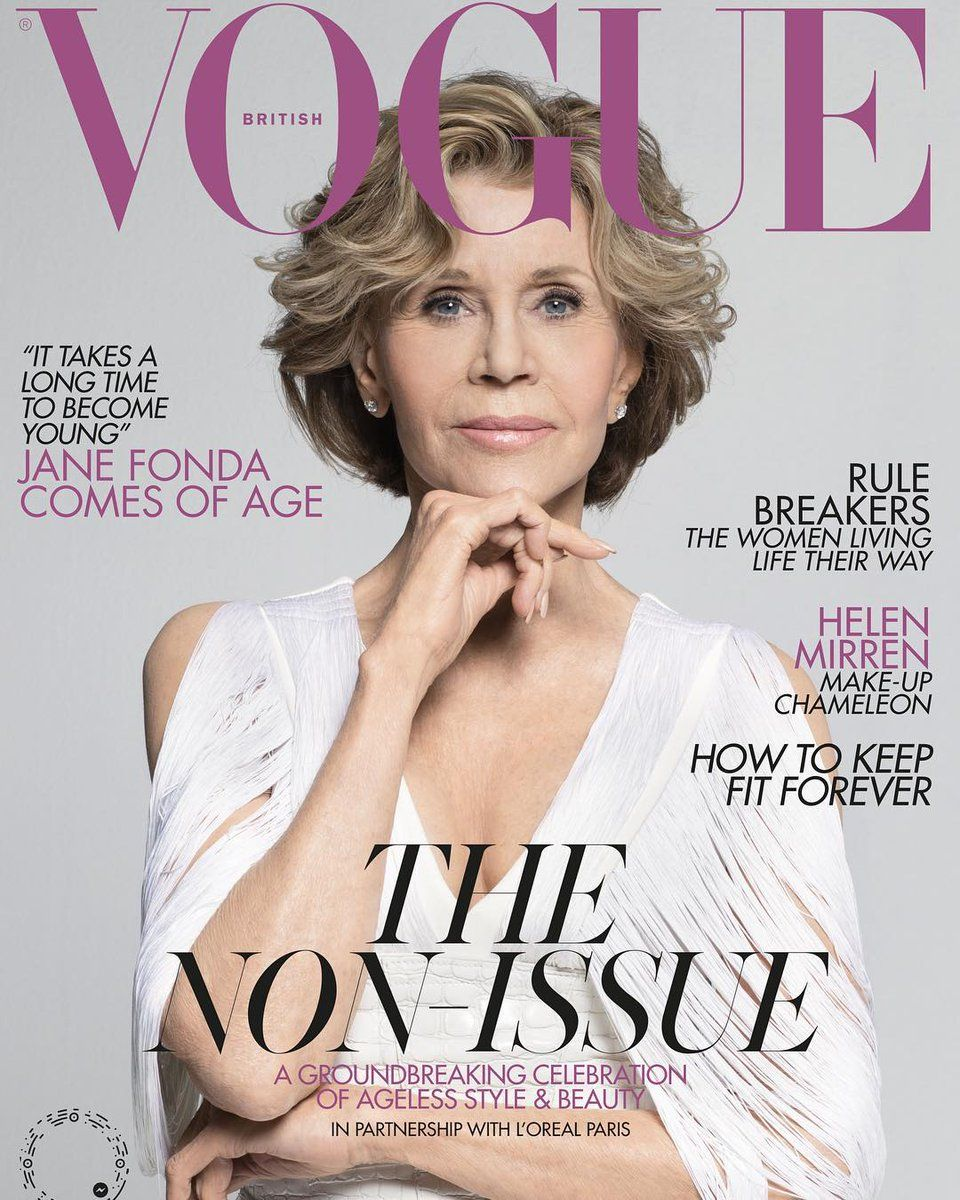 f16b4de1af55d Jane Fonda for Vogue Magazine UK May 2019 | Magazine Covers in 2019 ...