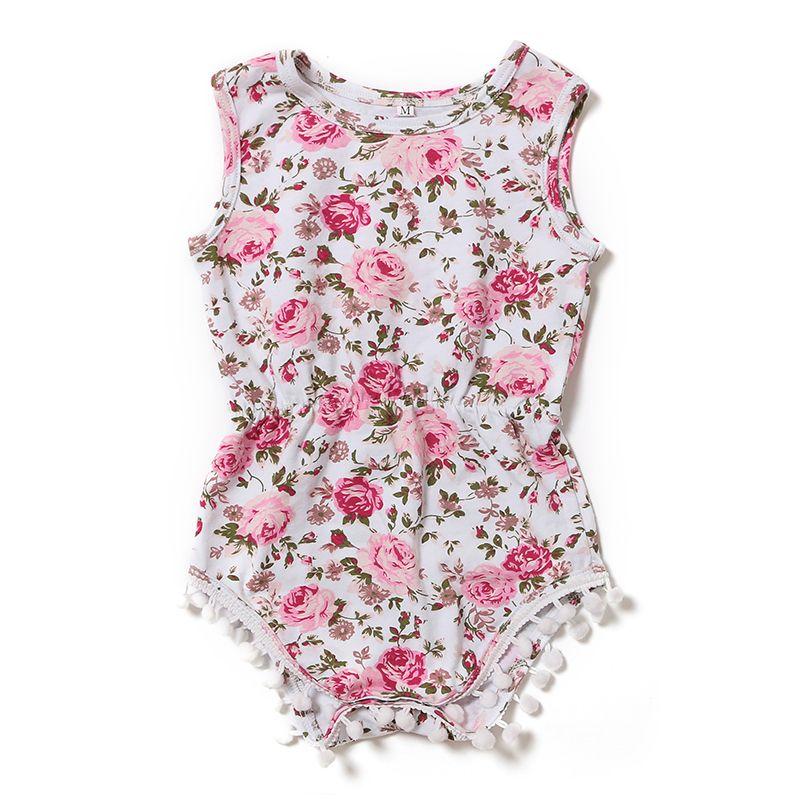 2016 Summer Newborn Girl Bodysuit Infant Clothing Newborn Boutique