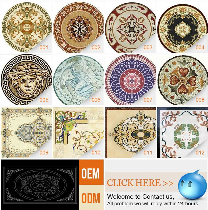 Imported Best Quality Waterjet Marble Floor Medallion