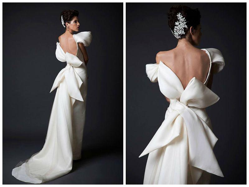 Krikor Jabotian Osen Zima 2014 2015 Evening Dresses Vintage Wedding Dress Trends Backless Prom Dresses