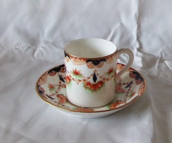 Vintage Imari Paragon Star Coffee Can and Saucer by TheMewsCottage