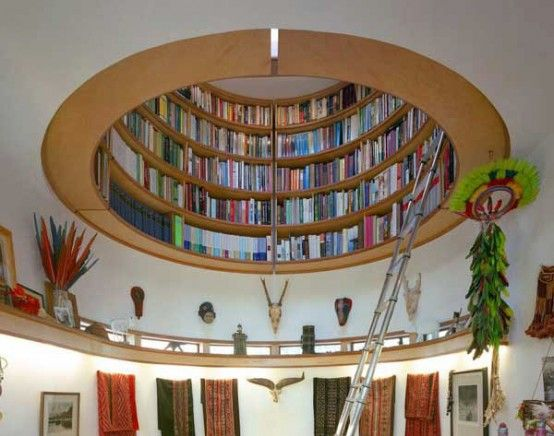 Ideas Circular Attic Library Bookcase Design Furniture Shelving Wall Shelves Built In Bookcases