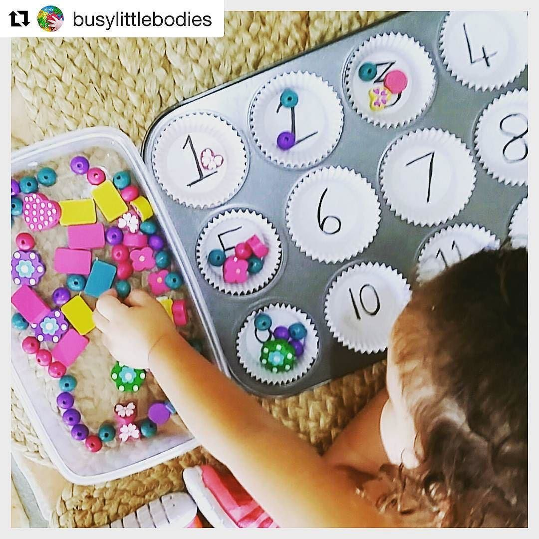 Easy play idea for building number sense at home | school ideas ...