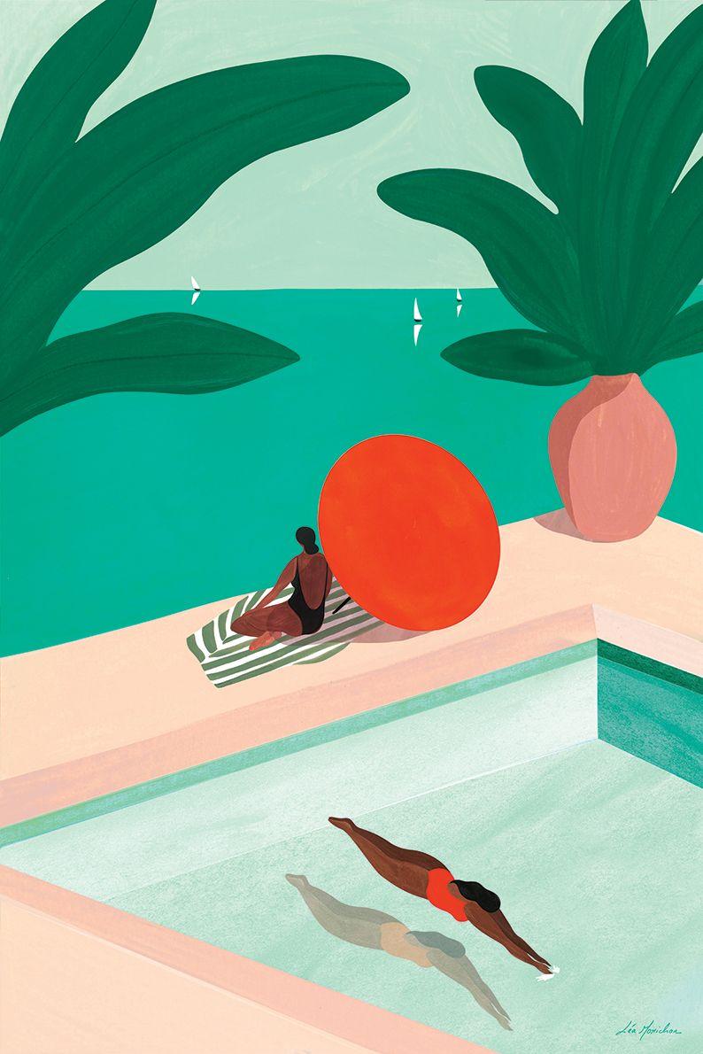 #artprint #tropicalart #poster #villacapriart #leamorichon #art #homedecor