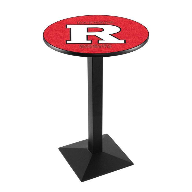 "Rutgers Scarlet Knights 42"" Square Base Black Pub Table - $329.99"