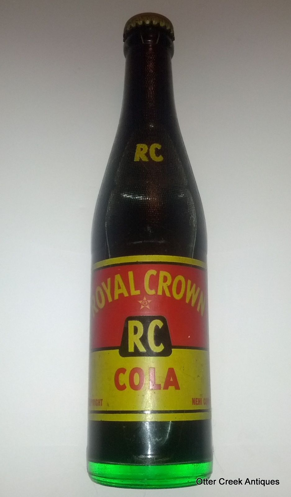 Unopened 1950 S Royal Crown Rc Cola Nehi Corp Acl Soda Bottle By Otter Creek Antiques 34 95