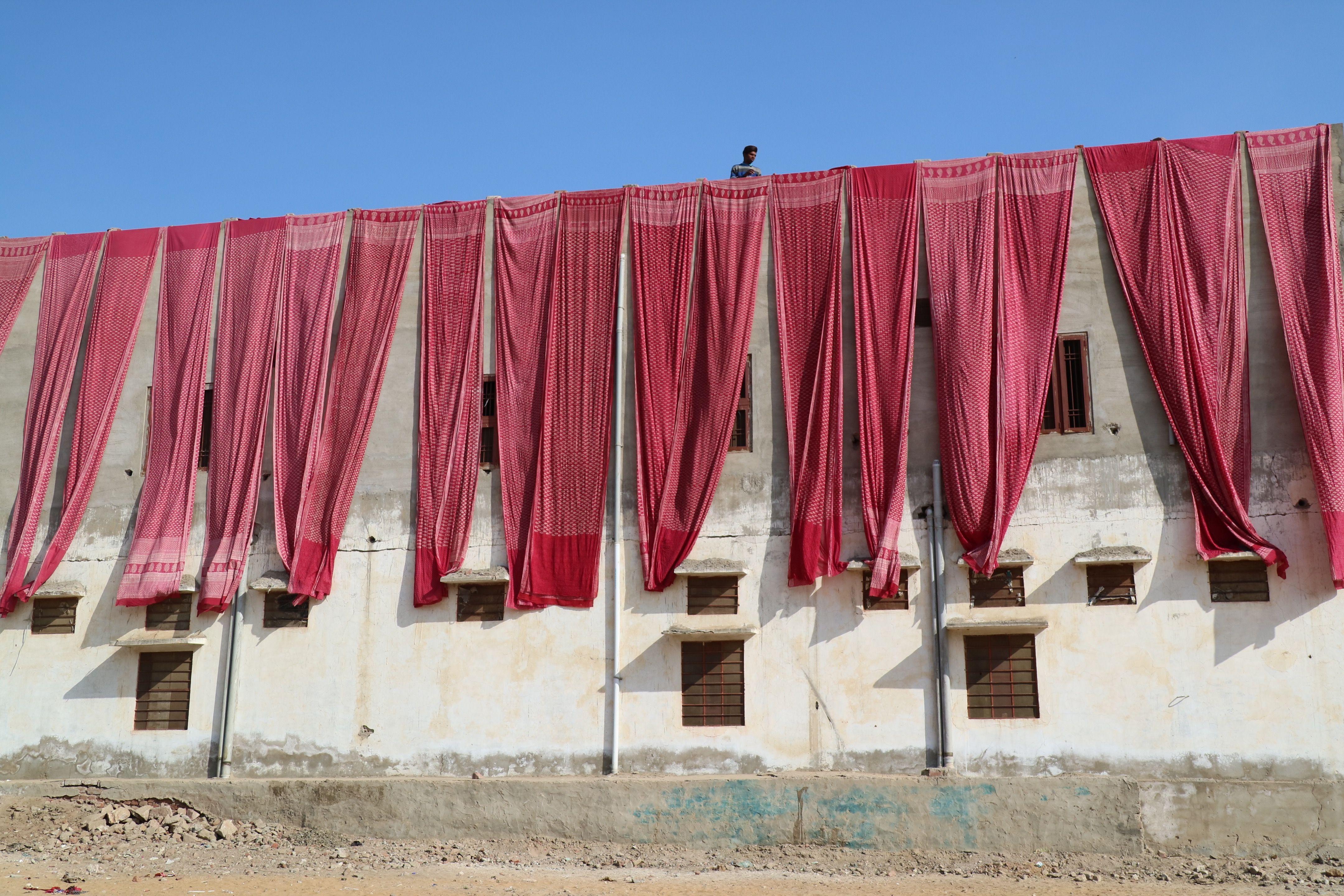 All the amazing block printing fabric drying in the wind block jpg  4320x2880 Fabric wind block 2135a57fb