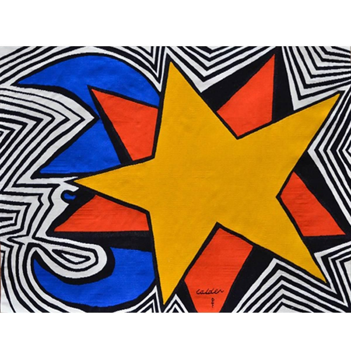 Alexander Calder Star Wool Tapestry Ca 1975 Alexander Calder