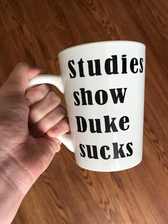 Duke Sucks Mug | College Basketball Mugs | Basketball Coffee Cups | March  Madness Gifts |