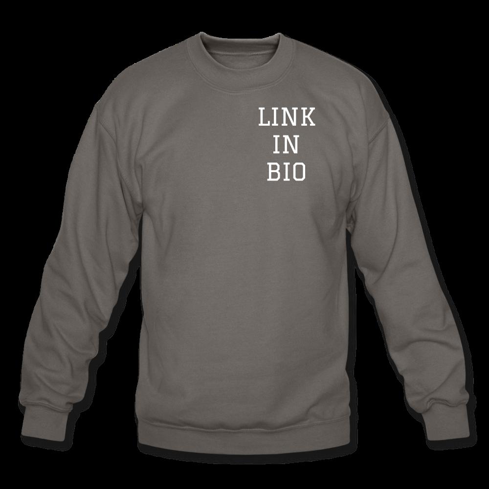 Link In Bio Crewneck Sweatshirt In 2021 Sweatshirts Crew Neck Sweatshirt Long Sleeve Tshirt Men [ 1000 x 1000 Pixel ]