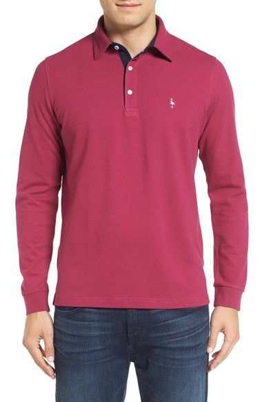 Long Sleeve Piqué Polo
