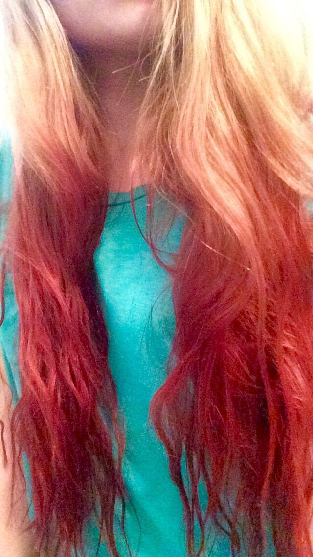 Dip Dyed My Hair With Kool Aid Over A Week Ago Half Black Cherry And Cherry Kool Aid Hair Dye Cool Hair Color Dye My Hair