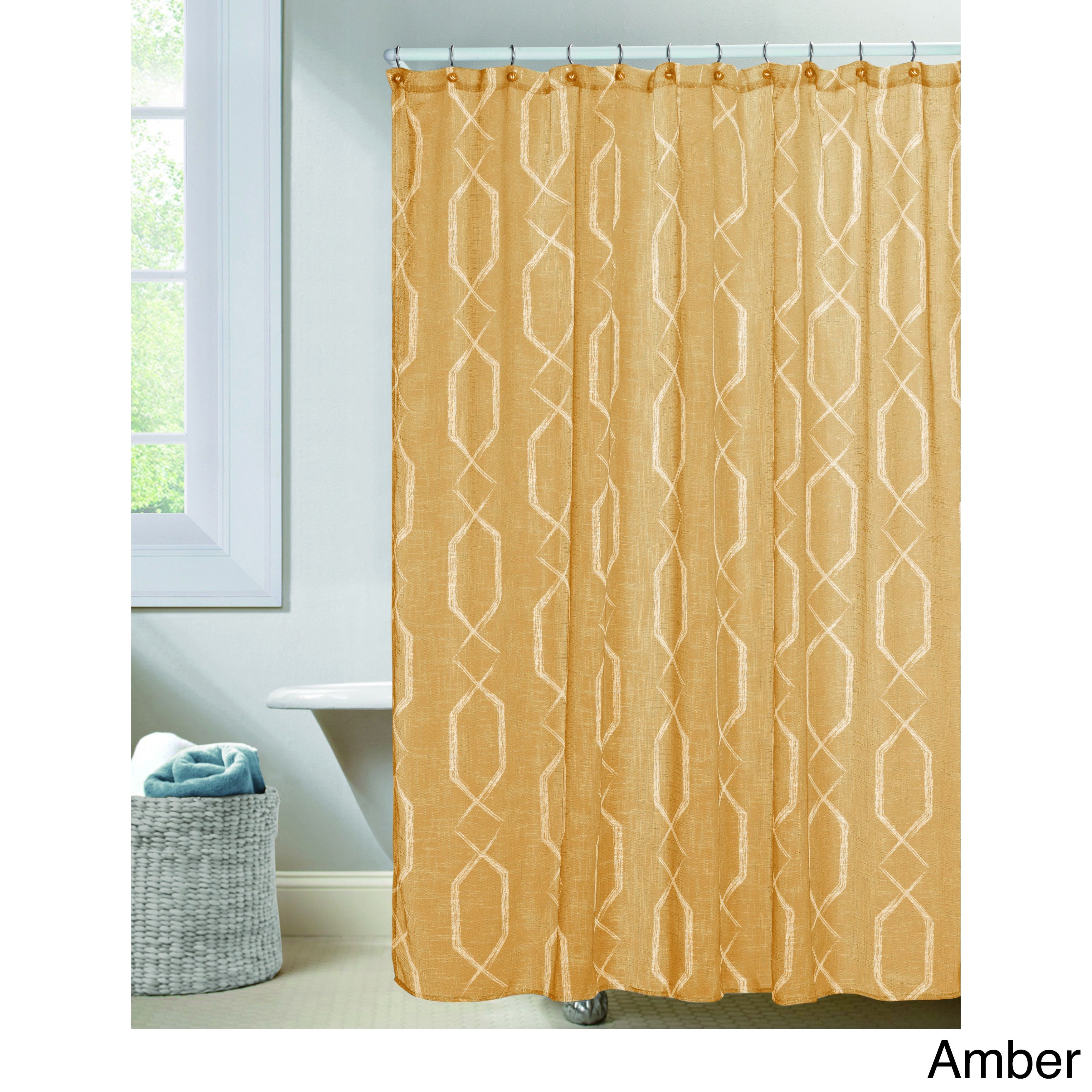 Duck River Arcadia Shower Curtain Amber Brown Taupe