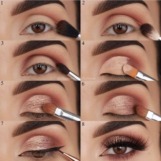 22 Eye make-up tutorial step by step Look simple and straightforward natural