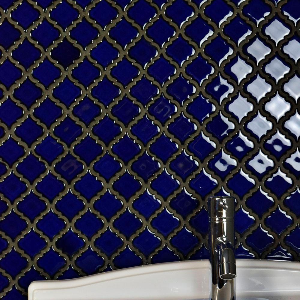 Merola Tile Hudson Tangier Blue Eye 12-3/8 in. x 12-1/2 in. x 5 mm ...