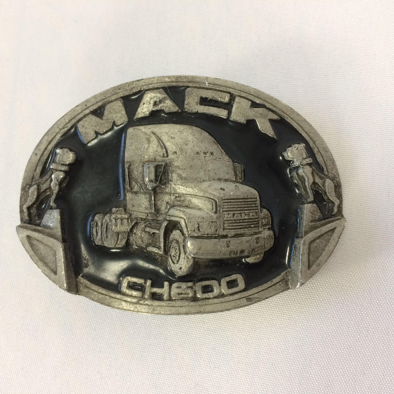 Mack Truck Belt Buckle CH 600 Vintage 80s Bulldogs Truck