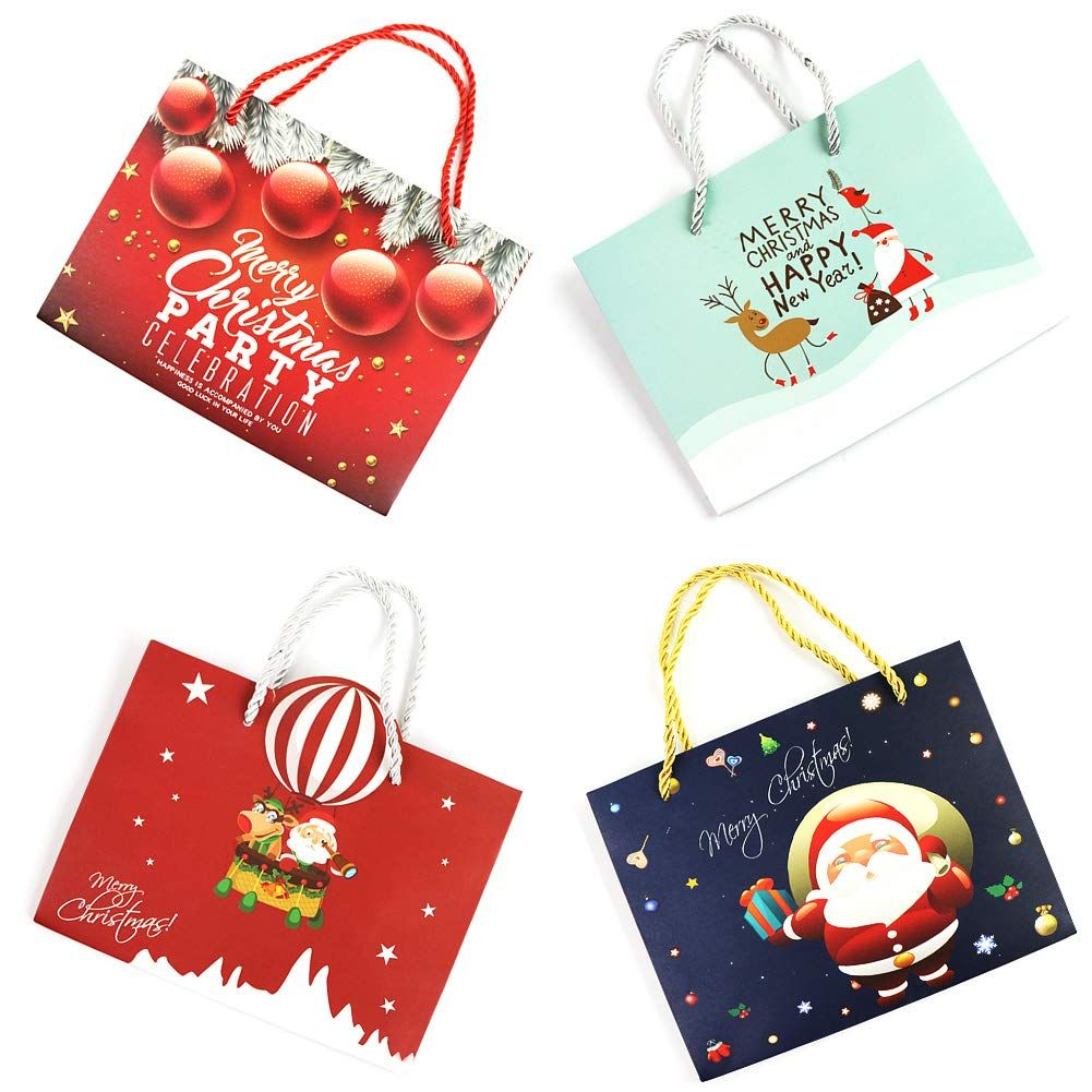 32 Count Christmas Gift Large Bags Bulk Set Wrapping Holiday ...
