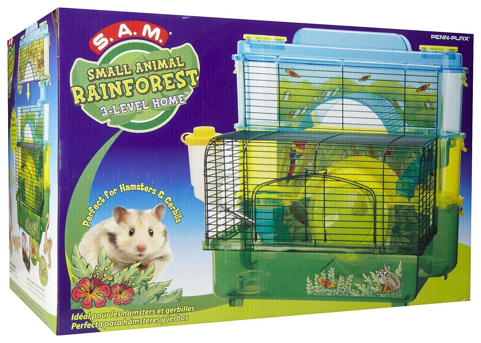 Penn Plax Rainforest Jungle Hamster Home Hamster House Hamster Small Pets