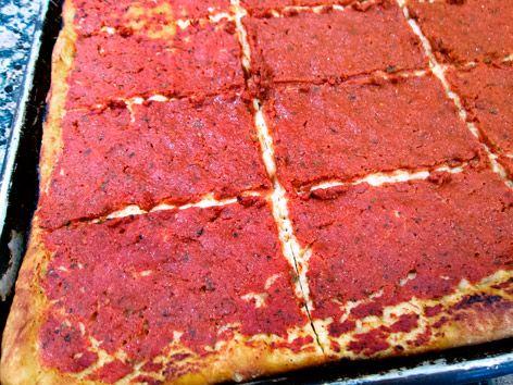 Rhode Island-style pizza (a.k.a.
