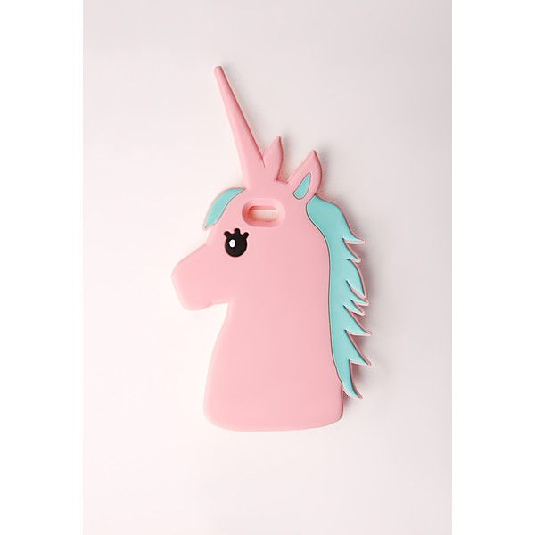 Missguided Unicorn Phone CaseiPhone 6 (37 BRL) ❤ liked on Polyvore featuring accessories, tech accessories, phone cases and pink