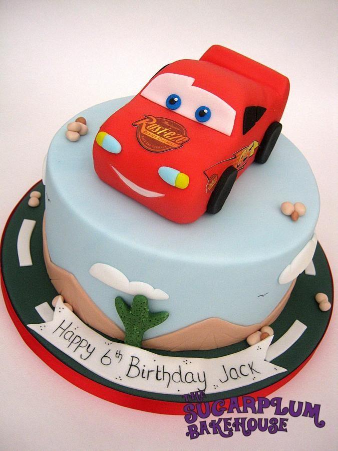 Lightning McQueen Cars Cake car cakes Pinterest Car cakes