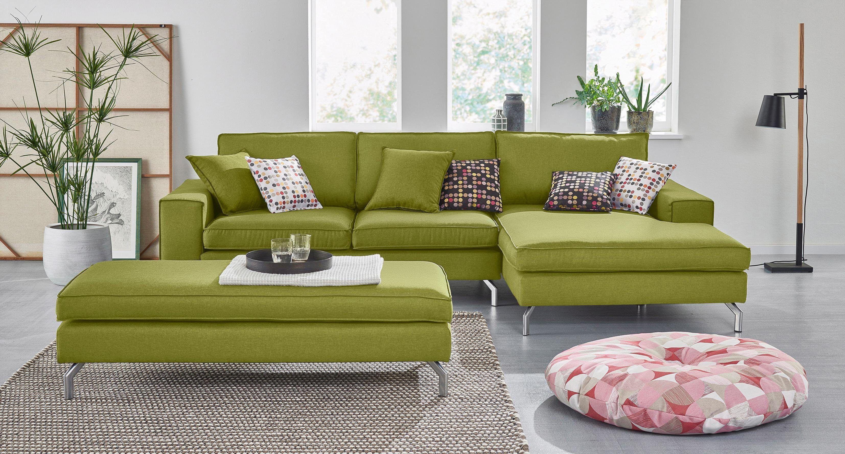 Ecksofas Design max winzer ecksofa grün recamiere rechts florian fsc