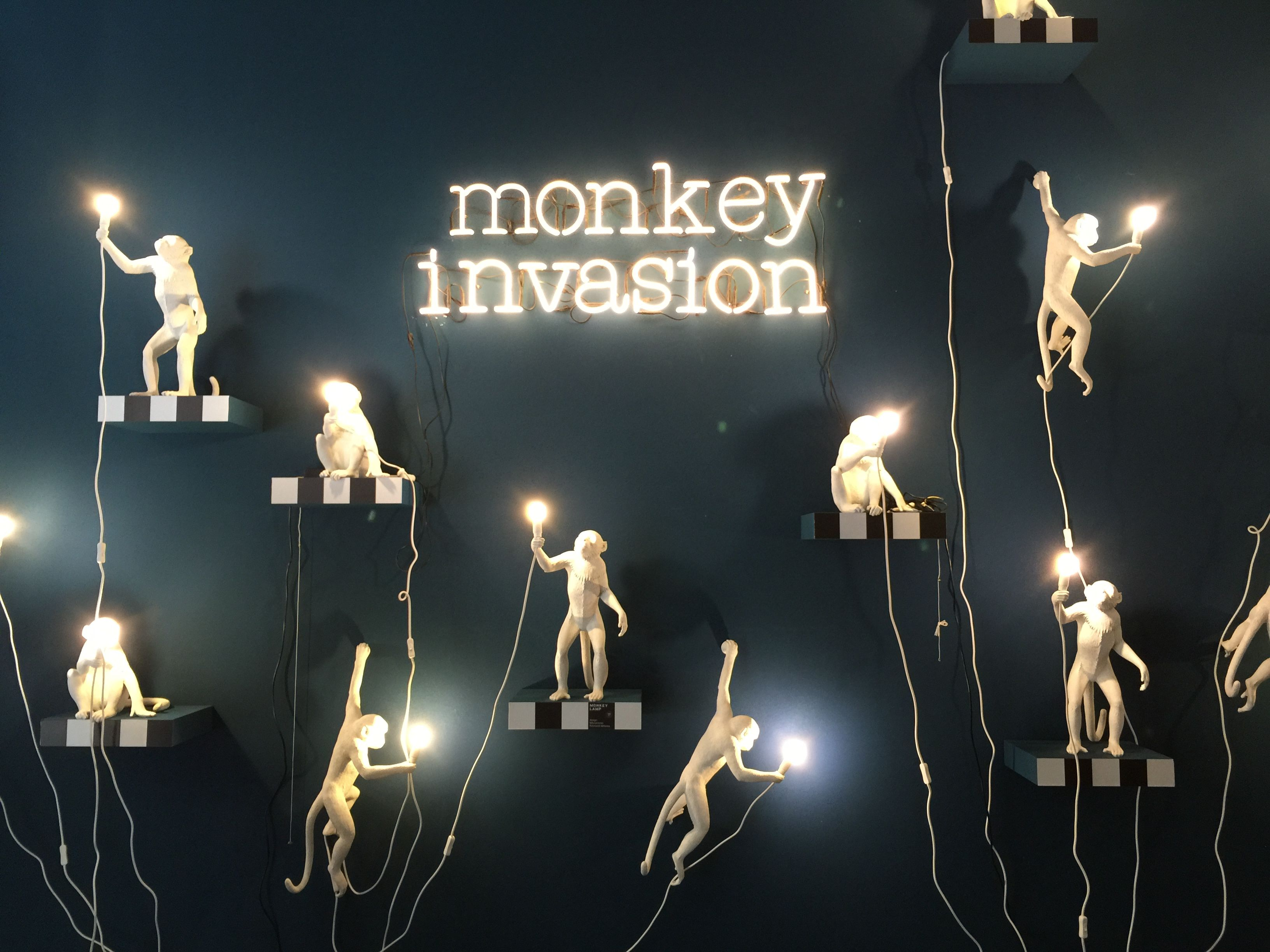 Watch out for the monkey light invasion at seletti salone del watch out for the monkey light invasion at seletti arubaitofo Gallery
